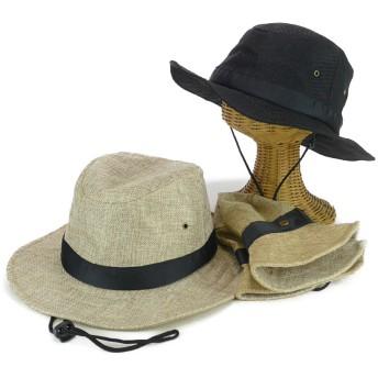 ハット - Smart Hat Factry <春夏新作>ヒモ付リネトロンロールミドルブリム中折 レディース 帽子