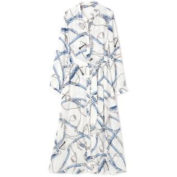 ピンキーアンドダイアン PINKY & DIANNE マリンスカーフロングソフトシャツ ブルー 38【税込10,800円以上購入で送料無料】