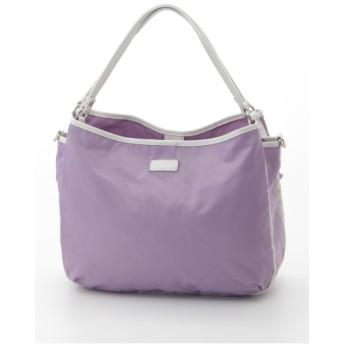 50%OFF Y'SACCS(bag) (イザック(バック)) ナイロン×レザーナイロントートLサイズ パープル