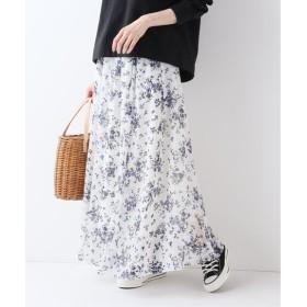 SLOBE IENA スプリングフローラル スカート ホワイト フリー