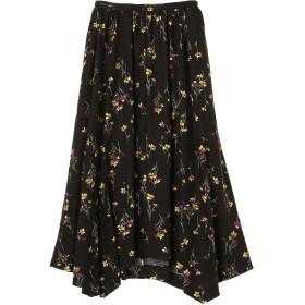 SACRA SACRA/サクラ 花柄スカート ロング・マキシ丈スカート,BLACK