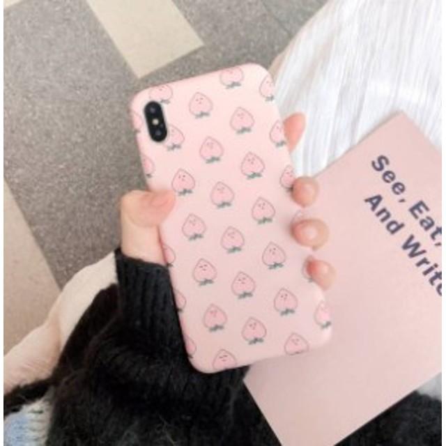 iPhoneケース 桃 可愛い ピンク スマホケース iPhone XR XS Maxケース iphoneXS/X/iPhone7/8/7p/8pケース 全機種対応 お洒落