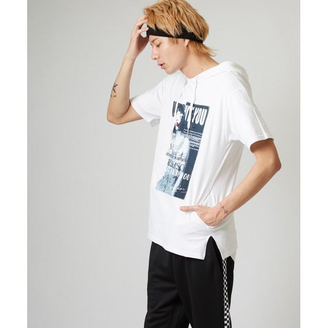 193bab7131ce5 パーカ - improves Tシャツ メンズ レディース パーカー カットソー 半袖 フード Tパーカー ボックスロゴ ガールズ