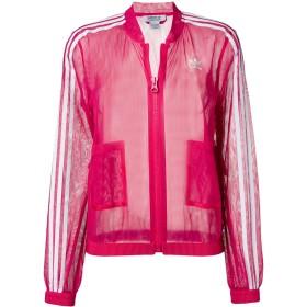 Adidas クロップド スポーツジャケット - ピンク