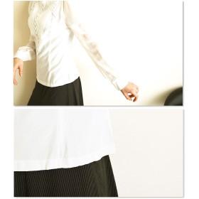 シャツ - Sawa a la mode スぺシャツなデザインで。レディース ファッション トップス シャツ ブラウス 長袖 ミディアム丈 ホワイト フリーサイズ M L LLMサイズ Lサイズ LLサイズ 9号 11号 13号 15号 サワアラモード アラモード alamode