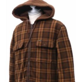 シュプリーム SUPREME Hooded Plaid Work Shirt BROWN 【新品】 418000624046 ジャケット OUTER