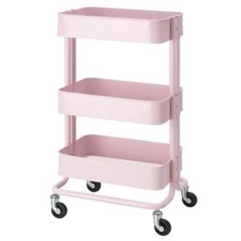 【IKEA イケア】RASKOG ロースコグ ワゴン ライトピンク アイランドキッチン ワゴン