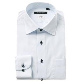 【THE SUIT COMPANY:トップス】【COOL MAX】ワイドカラードレスシャツ 織柄 〔EC・BASIC〕