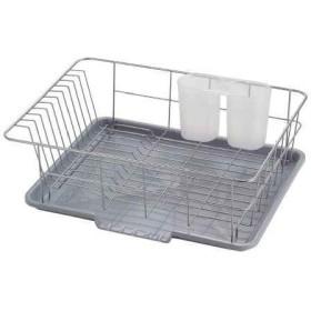 食器 水切り かご 水が流れるトレー付 シンプル・ウェア[HW-7303]