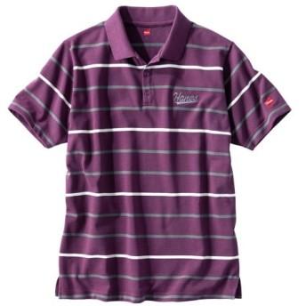 ヘインズ(Hanes) 半袖ボーダーポロシャツ ポロシャツ