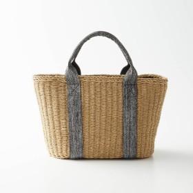 バッグ カバン 鞄 かごバッグ ペーパーメッシュ素材のカゴトートバッグ カラー 「ベージュ」