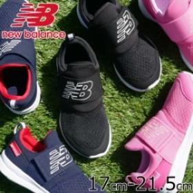 キッズ ジュニア 男の子 女の子 スニーカー スリッポン ローカット 運動靴 ニューバランス new balance POPRES 子供靴 ベルクロ 通園