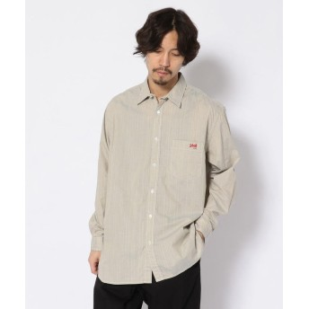 【20%OFF】 ショット OVER SIZE BIG SHIRT/オーバーサイズ ビッグシャツ メンズ GREY L 【Schott】 【セール開催中】