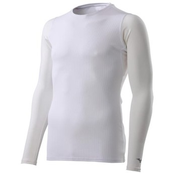 MIZUNO SHOP [ミズノ公式オンラインショップ] ドライエアロフローインナーシャツ[メンズ] 01 ホワイト J2MA9020