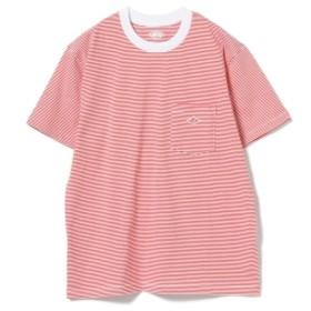 【WEB限定】DANTON / ポケット Tシャツ レディース Tシャツ 154/WHITECARMINE 36