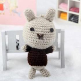 IPOTCH DIY 手作り かぎ針編みキット ウサギ 動物 人形 かわいい ハンドメイド 簡単ぬいぐるみ手芸キット