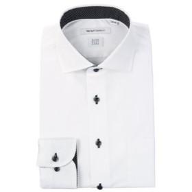 【THE SUIT COMPANY:トップス】【SUPER EASY CARE】ホリゾンタルカラードレスシャツ 織柄 〔EC・FIT〕