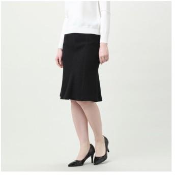 TRANS WORK / トランスワーク 【ウォッシャブル】ストレッチブークレーツイードニットスカート