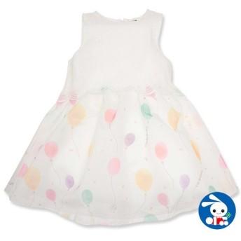 ベビー服 女の子 夏 風船柄ノースリーブワンピース 80cm・90cm・95cm 赤ちゃん ベビー 新生児 乳児 幼児 子供服 おしゃれ