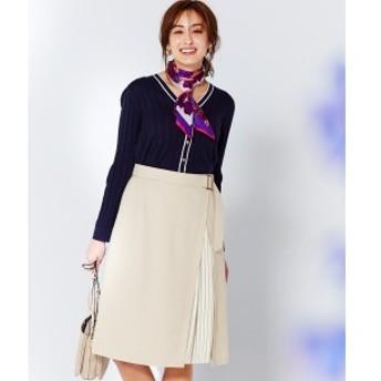 組曲 S(KUMIKYOKU S)/【2019春のWEB限定】ポリエステルリネンライクツイル スカート