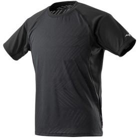 ミズノ(MIZUNO) メンズ ランニング ジャカードTシャツ JACQUARD T-SHIRT ブラック J2MA9015 09 マラソン ジョギング 半袖 トレーニングウェア 練習着