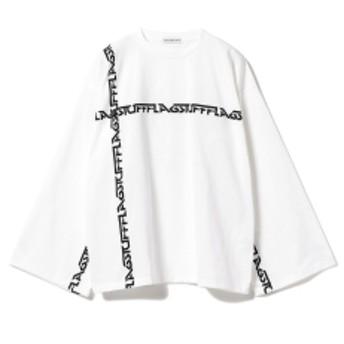 F-LAGSTUF-F / Big Line Long Sleeve Tee メンズ Tシャツ WHITE L
