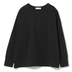 Demi-Luxe BEAMS / 天竺ロングスリーブ ビッグTシャツ レディース カットソー BLACK ONE SIZE