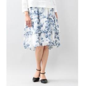 TO BE CHIC / トゥー ビー シック フラワーパピヨンプリントスカート