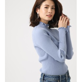 ニット・セーター - AZUL BY MOUSSY FRILL RIB KNIT TOPS