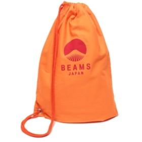 BEAMS JAPAN / オリジナル ロゴ 巾着 バッグ 大 メンズ ショルダーバッグ ORANGE ONE SIZE