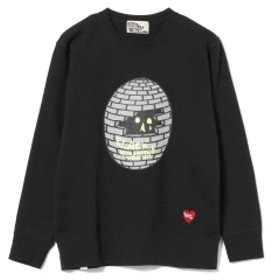 BLACK HUMOURS by Jody Barton / Black Bricked Sphere Crewneck Sweatshirt メンズ スウェット BLACK L