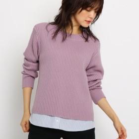 [マルイ]【セール】Lセーター(【WEB限定カラー】裾シャツ地切り替えニット)/インディヴィ(INDIVI)