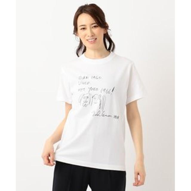 【any SiS:トップス】【L'aube】JohnLennonイラスト Tシャツ