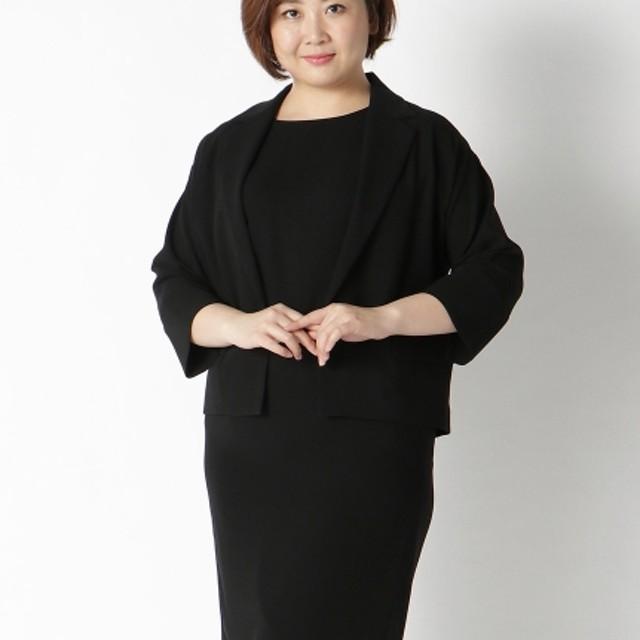 【大きいサイズレディース】【L-4L】快適フォーマルアンサンブル スーツ スーツセット