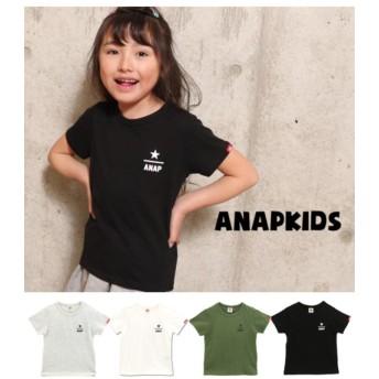 アナップキッズ ワンポイントロゴTシャツ レディース グレー S 【ANAP KIDS】