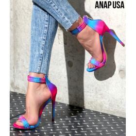 ANAP(アナップ)ギャザーストラップヒールサンダル