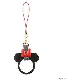 ディズニーキャラクター/リングストラップ 19-855614 ミニーマウス/ブラック