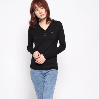 Tシャツ - GUESS【WOMEN】 [GUESS] LACE HENRY V-NECK L/S TEE