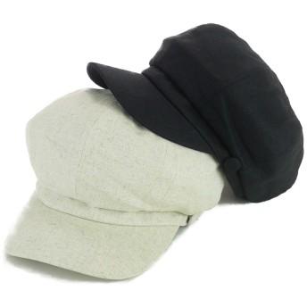 キャスケット - Smart Hat Factry <春夏新作>ボタン付リネン風8パネルキャスケット ヤング 帽子