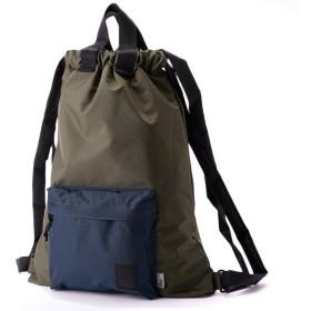 ブラウンバッファロー The Brown Buffalo Hobo Backpack Olive Navy