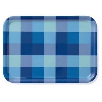 メラミントレー チェック柄 ブルー ホームコーディ チェック柄(ブルー) 洋食器