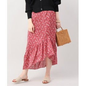 JOINT WORKS CLANE petit flower frill skirt レッド 36