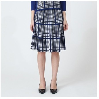 TRANS WORK / トランスワーク 【ウォッシャブル】チェックジャカードスカート