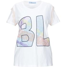《期間限定セール開催中!》BLUMARINE レディース T シャツ ホワイト one size コットン 100%