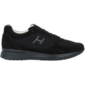 《期間限定 セール開催中》HOGAN メンズ スニーカー&テニスシューズ(ローカット) ブラック 9.5 革 / 紡績繊維