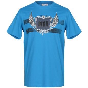 《9/20まで! 限定セール開催中》JOHN RICHMOND メンズ T シャツ アジュールブルー S コットン 100%