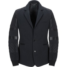 《期間限定 セール開催中》PHILIPP PLEIN メンズ テーラードジャケット ブラック L コットン 75% / ナイロン 22% / ポリウレタン 3% / ポリウレタン