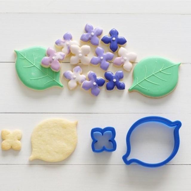 あじさい【セット】クッキー型・クッキーカッター