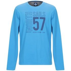 《期間限定 セール開催中》NORTH SAILS メンズ T シャツ アジュールブルー S コットン 100%