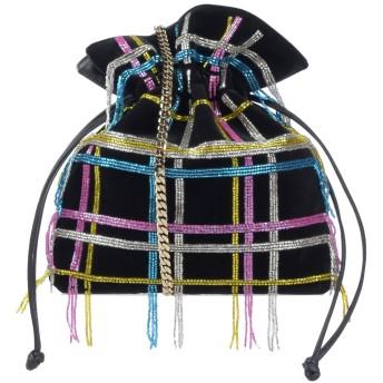 《期間限定セール開催中!》LES PETITS JOUEURS レディース メッセンジャーバッグ ブラック 紡績繊維